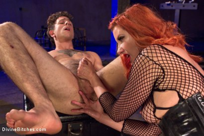 Photo number 8 from The Maitresse Milks Virgin Prostate and Punishes Dripping Cock! shot for Divine Bitches on Kink.com. Featuring Maitresse Madeline Marlowe  and Corbin Dallas in hardcore BDSM & Fetish porn.