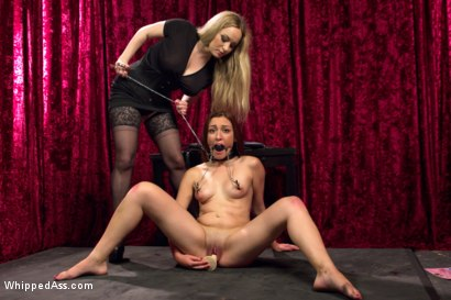 Photo number 4 from A Pain Slut is Born! shot for Whipped Ass on Kink.com. Featuring Aiden Starr and Alexa Raye in hardcore BDSM & Fetish porn.