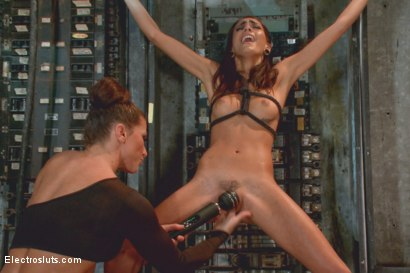 Photo number 14 from 19-Year Old Newbie Gets Electro Hazed shot for Electro Sluts on Kink.com. Featuring Ariel X and Janice Griffith in hardcore BDSM & Fetish porn.