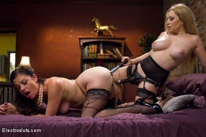 Photo number 7 from Housewife Ruins Dinner, Electropunished shot for Electro Sluts on Kink.com. Featuring Aiden Starr and Sovereign Syre in hardcore BDSM & Fetish porn.