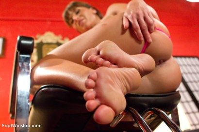 Photo number 3 from Pretty Pedicure Turned Deep Lesbian Foot Fuck shot for Foot Worship on Kink.com. Featuring Ariel X and Juliette March in hardcore BDSM & Fetish porn.