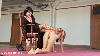 Photo number 12 from BDSM Unbound: Kink Without Ties or Tools shot for Kink University on Kink.com. Featuring Janice Griffith and Lady Frost in hardcore BDSM & Fetish porn.