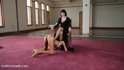 Photo number 7 from BDSM Unbound: Kink Without Ties or Tools shot for Kink University on Kink.com. Featuring Janice Griffith and Lady Frost in hardcore BDSM & Fetish porn.
