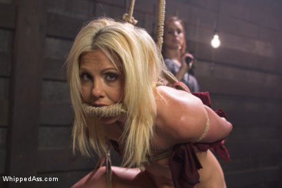 Photo number 2 from Hot Slutty Blond dominated in Bella Rossi's Kinky Lesbian Fantasy shot for Whipped Ass on Kink.com. Featuring Bella Rossi and Holly Hanna in hardcore BDSM & Fetish porn.