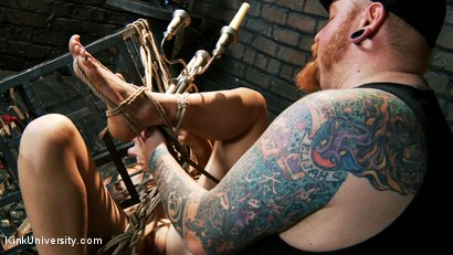 Photo number 25 from Asymmetric Bondage with Boss Bondage shot for Kink University on Kink.com. Featuring Mona Wales and Boss Bondage in hardcore BDSM & Fetish porn.