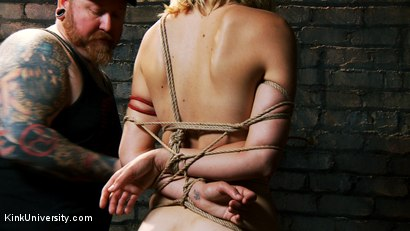 Photo number 15 from Asymmetric Bondage with Boss Bondage shot for Kink University on Kink.com. Featuring Mona Wales and Boss Bondage in hardcore BDSM & Fetish porn.