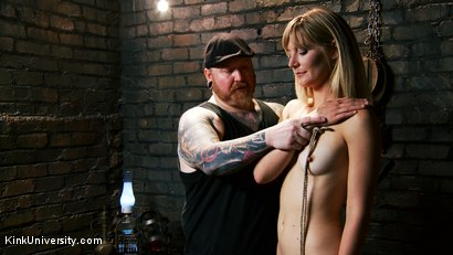 Photo number 3 from Asymmetric Bondage with Boss Bondage shot for Kink University on Kink.com. Featuring Mona Wales and Boss Bondage in hardcore BDSM & Fetish porn.