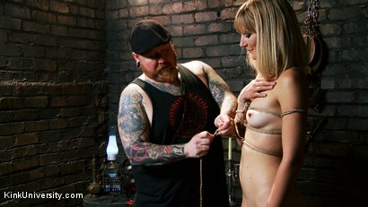 Photo number 7 from Asymmetric Bondage with Boss Bondage shot for Kink University on Kink.com. Featuring Mona Wales and Boss Bondage in hardcore BDSM & Fetish porn.