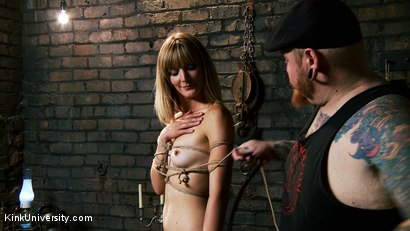 Photo number 8 from Asymmetric Bondage with Boss Bondage shot for Kink University on Kink.com. Featuring Mona Wales and Boss Bondage in hardcore BDSM & Fetish porn.