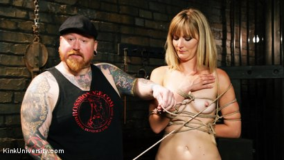 Photo number 9 from Asymmetric Bondage with Boss Bondage shot for Kink University on Kink.com. Featuring Mona Wales and Boss Bondage in hardcore BDSM & Fetish porn.