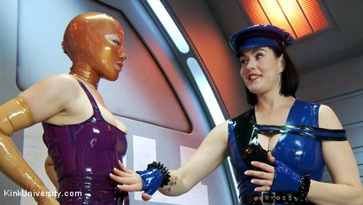 Photo number 12 from Latex Fetish: Wearing, Care and Feeding shot for Kink University on Kink.com. Featuring Snow Mercy and Ingrid Mouth in hardcore BDSM & Fetish porn.
