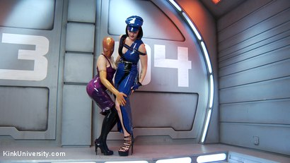 Photo number 15 from Latex Fetish: Wearing, Care and Feeding shot for Kink University on Kink.com. Featuring Snow Mercy and Ingrid Mouth in hardcore BDSM & Fetish porn.