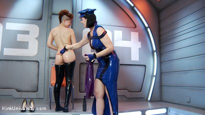 Photo number 3 from Latex Fetish: Wearing, Care and Feeding shot for Kink University on Kink.com. Featuring Snow Mercy and Ingrid Mouth in hardcore BDSM & Fetish porn.