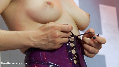 Photo number 7 from Latex Fetish: Wearing, Care and Feeding shot for Kink University on Kink.com. Featuring Snow Mercy and Ingrid Mouth in hardcore BDSM & Fetish porn.