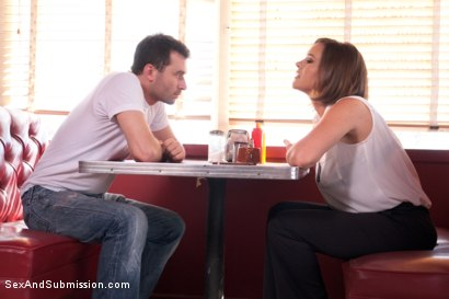 Photo number 2 from True Slut Detective   shot for Sex And Submission on Kink.com. Featuring James Deen and Krissy Lynn in hardcore BDSM & Fetish porn.
