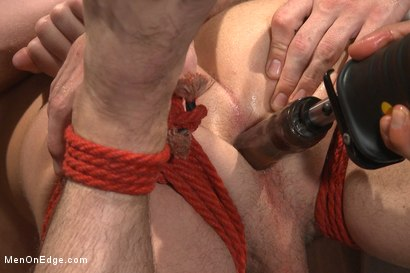 Photo number 12 from First Ever Men on Edge LIVE! - Slumber Party shot for Men On Edge on Kink.com. Featuring Christian Wilde and Dylan Knight in hardcore BDSM & Fetish porn.