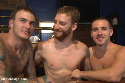 Photo number 15 from First Ever Men on Edge LIVE! - Slumber Party shot for Men On Edge on Kink.com. Featuring Christian Wilde and Dylan Knight in hardcore BDSM & Fetish porn.