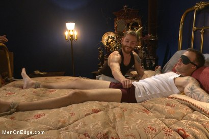 Photo number 1 from First Ever Men on Edge LIVE! - Slumber Party shot for Men On Edge on Kink.com. Featuring Christian Wilde and Dylan Knight in hardcore BDSM & Fetish porn.
