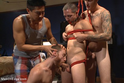 Photo number 8 from First Ever Men on Edge LIVE! - Slumber Party shot for Men On Edge on Kink.com. Featuring Christian Wilde and Dylan Knight in hardcore BDSM & Fetish porn.