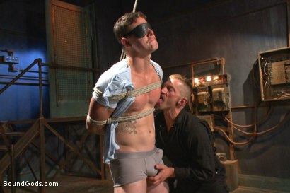 Photo number 1 from New captive bound, beaten and electrified shot for Bound Gods on Kink.com. Featuring Adam Herst and Jed Athens in hardcore BDSM & Fetish porn.