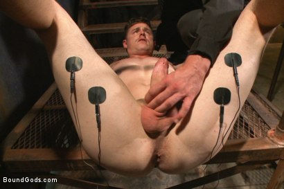 Photo number 3 from New captive bound, beaten and electrified shot for Bound Gods on Kink.com. Featuring Adam Herst and Jed Athens in hardcore BDSM & Fetish porn.