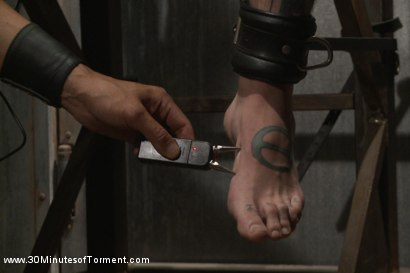 Photo number 6 from Pro Dom Ruckus takes the 30 pound flogger shot for 30 Minutes of Torment on Kink.com. Featuring Ruckus in hardcore BDSM & Fetish porn.