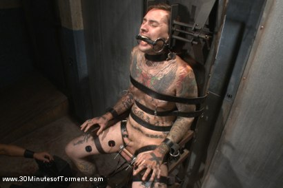 Photo number 4 from Pro Dom Ruckus takes the 30 pound flogger shot for 30 Minutes of Torment on Kink.com. Featuring Ruckus in hardcore BDSM & Fetish porn.
