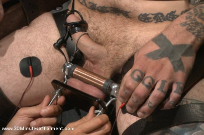 Photo number 7 from Pro Dom Ruckus takes the 30 pound flogger shot for 30 Minutes of Torment on Kink.com. Featuring Ruckus in hardcore BDSM & Fetish porn.
