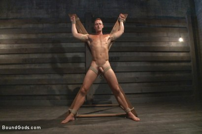 Photo number 5 from House Dom Connor Maguire breaks in a new boy shot for Bound Gods on Kink.com. Featuring Connor Maguire and Ivan Gregory in hardcore BDSM & Fetish porn.