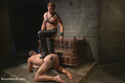 Photo number 3 from House Dom Connor Maguire breaks in a new boy shot for Bound Gods on Kink.com. Featuring Connor Maguire and Ivan Gregory in hardcore BDSM & Fetish porn.
