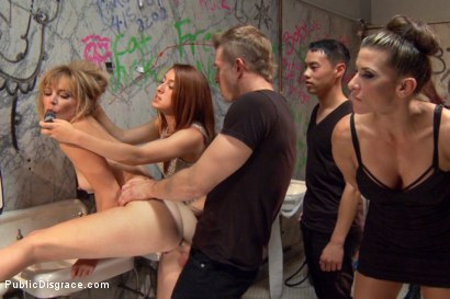 Photo number 4 from Folsom Street Spectacle! The ultimate humiliation of Mona Wales shot for Public Disgrace on Kink.com. Featuring Ariel X, Bill Bailey and Mona Wales in hardcore BDSM & Fetish porn.