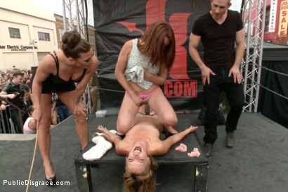 Photo number 11 from Folsom Street Spectacle! The ultimate humiliation of Mona Wales shot for Public Disgrace on Kink.com. Featuring Ariel X, Bill Bailey and Mona Wales in hardcore BDSM & Fetish porn.
