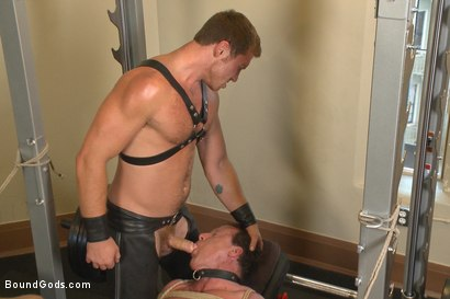 Photo number 14 from Derek Pain endures the Torturous BDSM Workout shot for Bound Gods on Kink.com. Featuring Connor Maguire and Derek Pain in hardcore BDSM & Fetish porn.