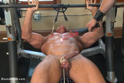 Photo number 8 from Derek Pain endures the Torturous BDSM Workout shot for Bound Gods on Kink.com. Featuring Connor Maguire and Derek Pain in hardcore BDSM & Fetish porn.