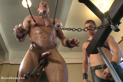 Photo number 5 from Derek Pain endures the Torturous BDSM Workout shot for Bound Gods on Kink.com. Featuring Connor Maguire and Derek Pain in hardcore BDSM & Fetish porn.