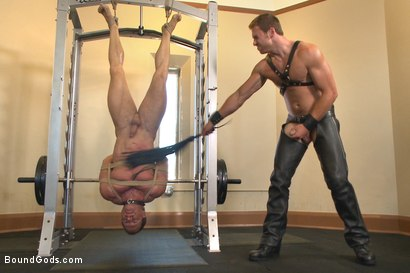 Photo number 9 from Derek Pain endures the Torturous BDSM Workout shot for Bound Gods on Kink.com. Featuring Connor Maguire and Derek Pain in hardcore BDSM & Fetish porn.
