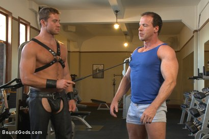 Photo number 1 from Derek Pain endures the Torturous BDSM Workout shot for Bound Gods on Kink.com. Featuring Connor Maguire and Derek Pain in hardcore BDSM & Fetish porn.