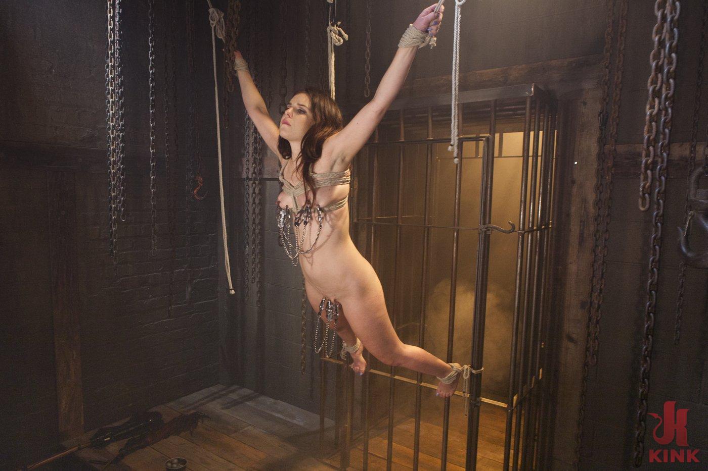 Photo number 13 from Pretty Little Rope Slut Gets Destroyed shot for Hogtied on Kink.com. Featuring Juliette March in hardcore BDSM & Fetish porn.