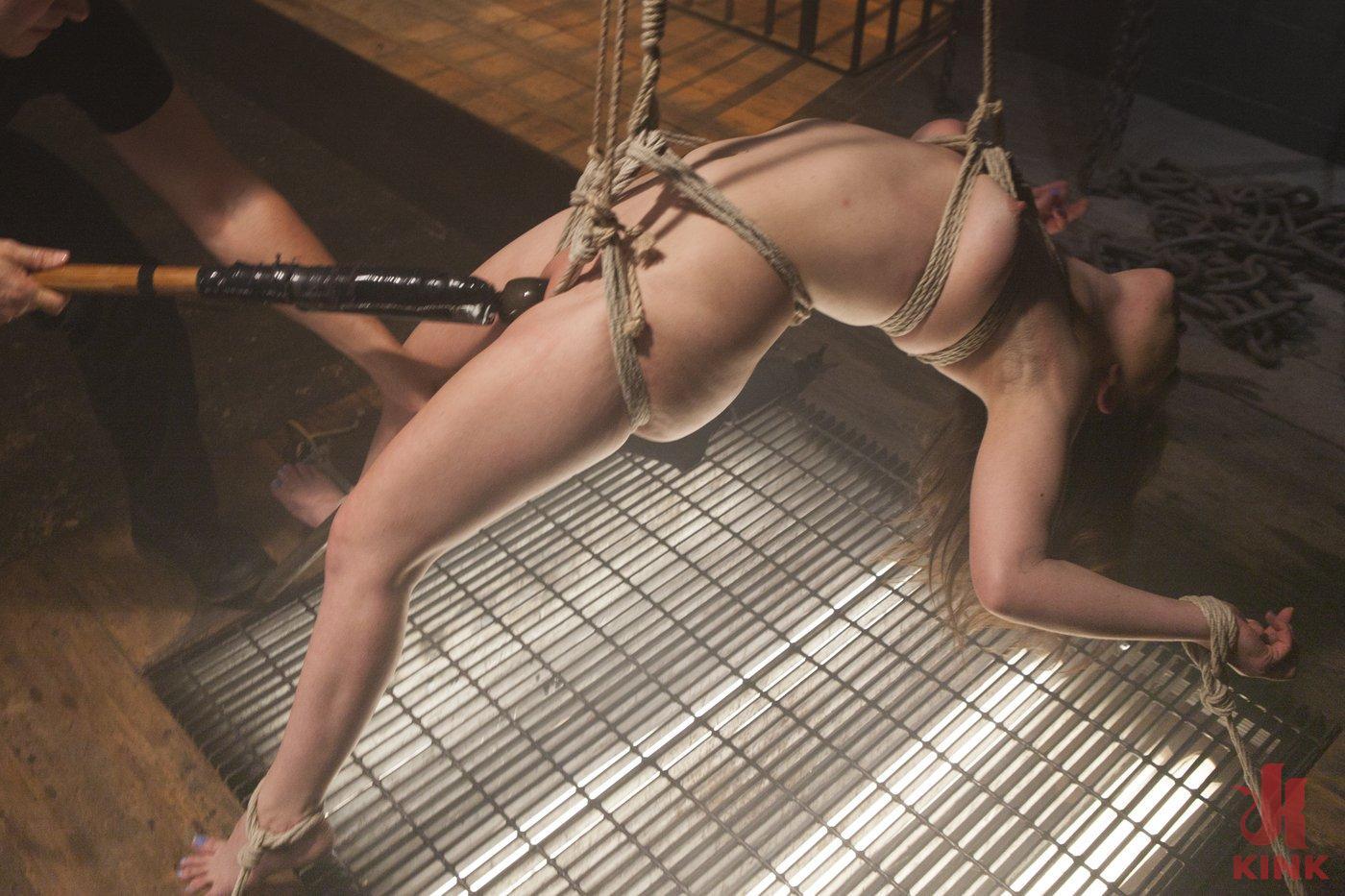 Photo number 18 from Pretty Little Rope Slut Gets Destroyed shot for Hogtied on Kink.com. Featuring Juliette March in hardcore BDSM & Fetish porn.