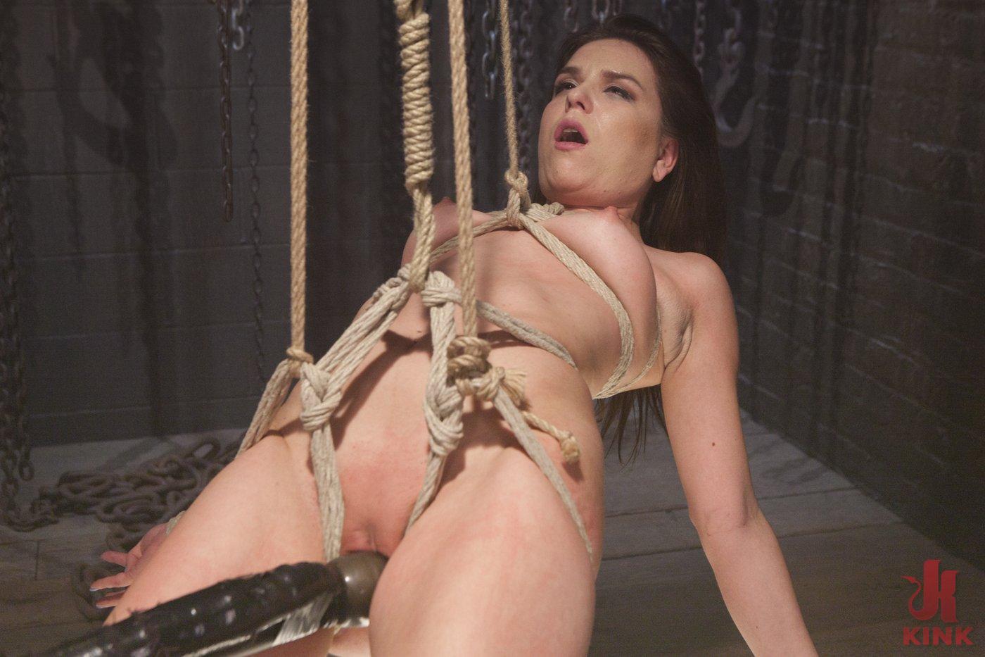 Photo number 6 from Pretty Little Rope Slut Gets Destroyed shot for Hogtied on Kink.com. Featuring Juliette March in hardcore BDSM & Fetish porn.