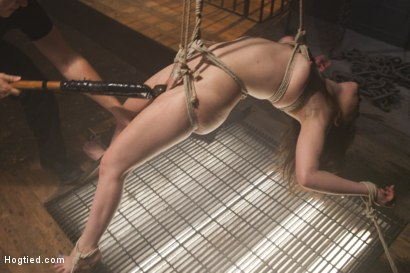 Photo number 18 from Pretty Little Rope Slut Gets Destroyed shot for Hogtied on Kink.com. Featuring Juliette March in hardcore BDSM & Fetish porn.