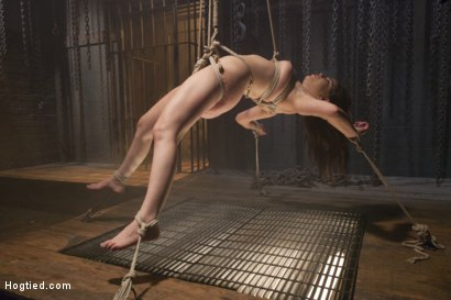 Photo number 20 from Pretty Little Rope Slut Gets Destroyed shot for Hogtied on Kink.com. Featuring Juliette March in hardcore BDSM & Fetish porn.
