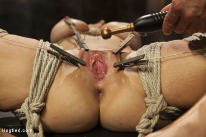 All Natural Babe in Heavy Bondage