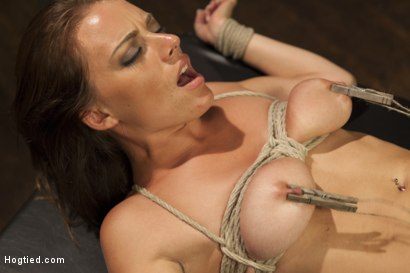 Photo number 13 from All Natural Babe in Heavy Bondage shot for Hogtied on Kink.com. Featuring Kayla West in hardcore BDSM & Fetish porn.
