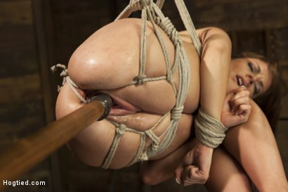 Photo number 8 from All Natural Babe in Heavy Bondage shot for Hogtied on Kink.com. Featuring Kayla West in hardcore BDSM & Fetish porn.