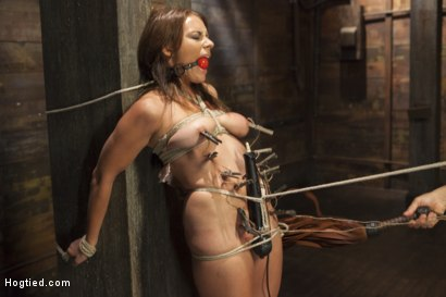 Photo number 4 from All Natural Babe in Heavy Bondage shot for Hogtied on Kink.com. Featuring Kayla West in hardcore BDSM & Fetish porn.