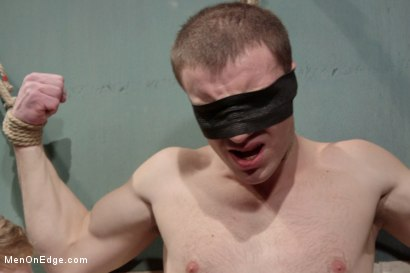 Photo number 1 from Hot captive with a 10 inch cock shot for Men On Edge on Kink.com. Featuring Doug Acre in hardcore BDSM & Fetish porn.