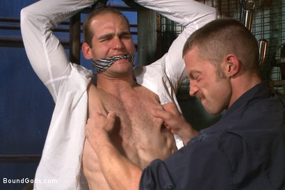 Photo number 15 from Creep Handyman torments and blackmails his boss shot for Bound Gods on Kink.com. Featuring Jonah Marx and Adam Herst in hardcore BDSM & Fetish porn.