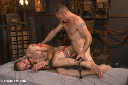 Photo number 8 from Creep Handyman torments and blackmails his boss shot for Bound Gods on Kink.com. Featuring Jonah Marx and Adam Herst in hardcore BDSM & Fetish porn.