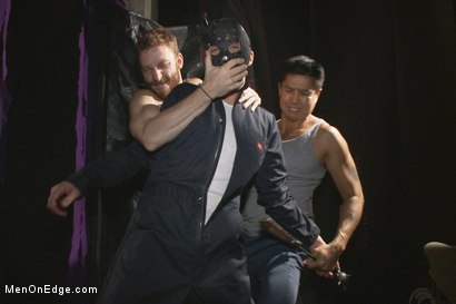 Photo number 2 from Is it a serial killer or a hot stud for edging on Halloween night? shot for Men On Edge on Kink.com. Featuring Zane Anders in hardcore BDSM & Fetish porn.